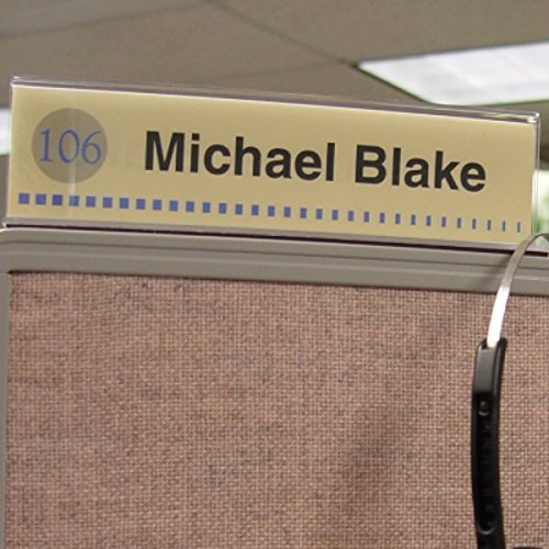 Cubicle X-Ray Vision 8'' X 2'' Double-Sided Office Cubicle Nameplate Sign Frame (Pack of 12) by Cubicle X-Ray Vision