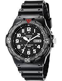 Men's MRW200H-1BV Black Resin Dive Watch