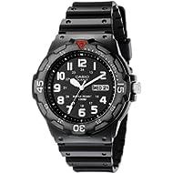 Men's MRW200H-1BV Black Resin Dive Watch
