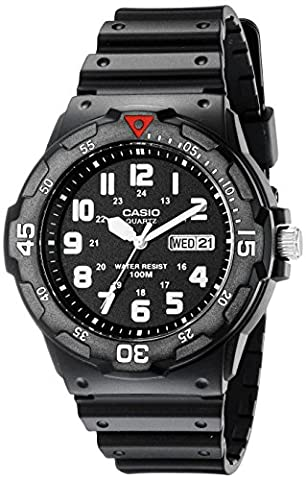 Casio Men's MRW200H-1BV Black Resin Dive Watch (Watch With Date)
