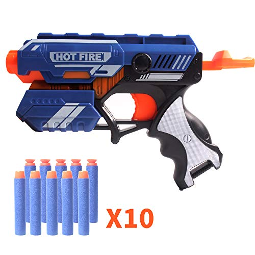 Coolgun Soft Foam Dart Blaster with 10 Darts, Toy Gun Funny Gifts for Kids, Teens and - Dart Foam Shooter