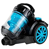 BLACK+DECKER VM2080 2000-Watts Cyclonic Canister Vacuum Cleaner, 220V (Not for USA - European Cord) Medium Blue and Black