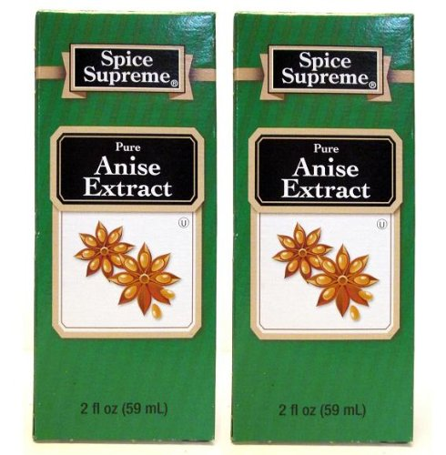 Spice Supreme Flavorings: Pure Anise Extract (Pack of 2) 2 oz - Anise Flavor