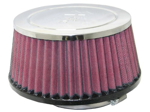 K&N RC-9470 Universal Clamp-On Air Filter: Round Tapered; 4.063 in (103 mm) Flange ID; 3.125 in (79 mm) Height; 6.875 in (175 mm) Base; 5.875 in (149 mm) Top
