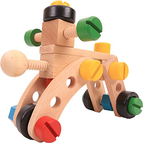 KINGSUNG Children's Day Gift Nut Combination Disassembly Engineering Car Boy Puzzle 4-6 Years Old Assembly Removable Screw Vehicle by KINGSUNG