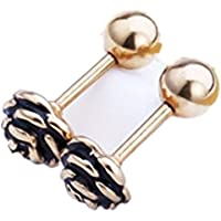 Rose Flower Ear Stud earrings Anti-allergic Cartilage Tragus Earring Titanium Steel Jewelry (Golden)