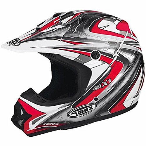 G-Max Visor for GM46X-1 Helmet - Core White/Red/Silver/Black - Md-3XL -