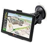 junsun 7 inch HD Car GPS Navigation Capacitive screen FM 8GB/256MB Vehicle Truck GPS US/CA Sat nav Lifetime Map