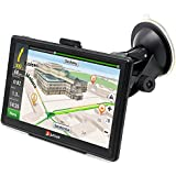 junsun Portable Car GPS Navigation System Units 7-Inch Capacitive screen 8GB Windows CE 6.0 US and Canada Lifetime...