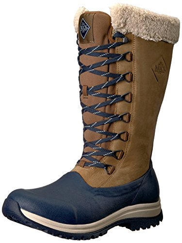Muck Boot Women's Apres Lace Tall (13'') Work Boot, Gray/Wine, 10 M US by Muck Boot