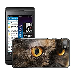 Hot Style Cell Phone PC Hard Case Cover // M00111464 Cat Eyes Cat Animal Pet Domestic // BlackBerry Z10