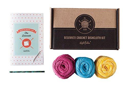 (Learn to Crochet Kit: Dishcloth (Bloom))