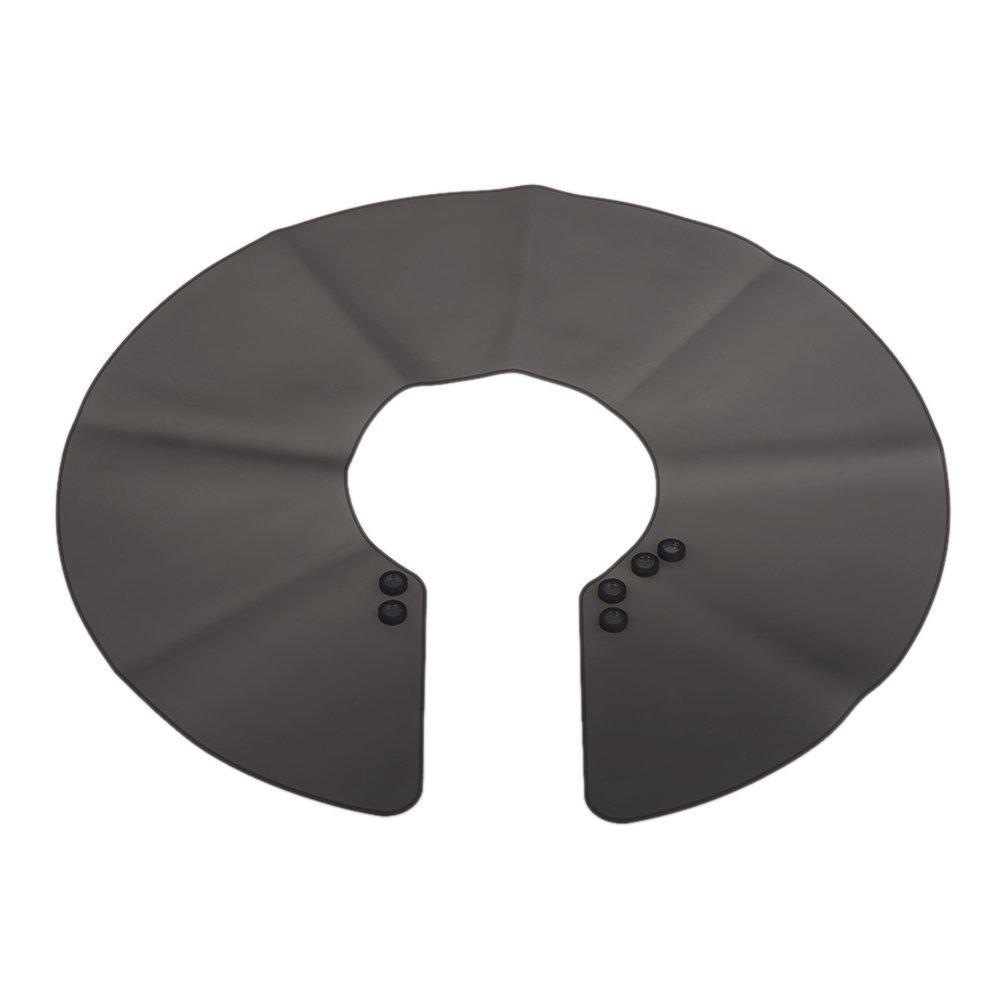 Sgerste Cheveux Cape Tablier de coiffure en silicone Coloration de cheveux Coupe Barber Chiffon Wrap Collier Shield