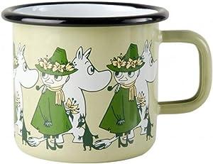 Muurla Moomin Friends enamel mug, Green 3,7 DL