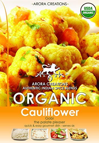 Arora Creations Organic Gobi Cauliflower Spice Blend, 0.8-Ounce (Pack of 6)