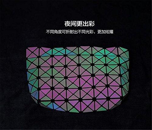 l'intérieur Sac 5x8 sac à Baobao luminous Sac Géométrie Sac Célèbre Casual Lumineux Femmes main Logo à Sac bandoulière à du Hologramme qn6HwaBaxv