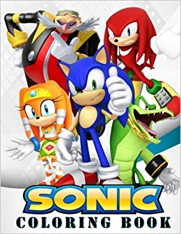 Sonic Coloring Book Great Coloring Book For Kids And Any Fan Of Sonic Characters Book Mira 9781725001886 Amazon Com Books