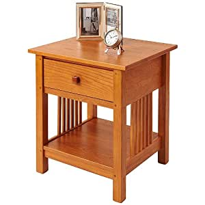 Manchester Wood Mission End Table - Golden Oak