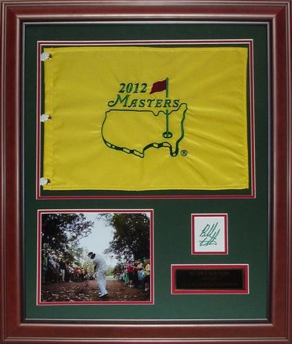 Bubba Watson Autographed 2012 Masters Champion Deluxe Framed Flag Piece