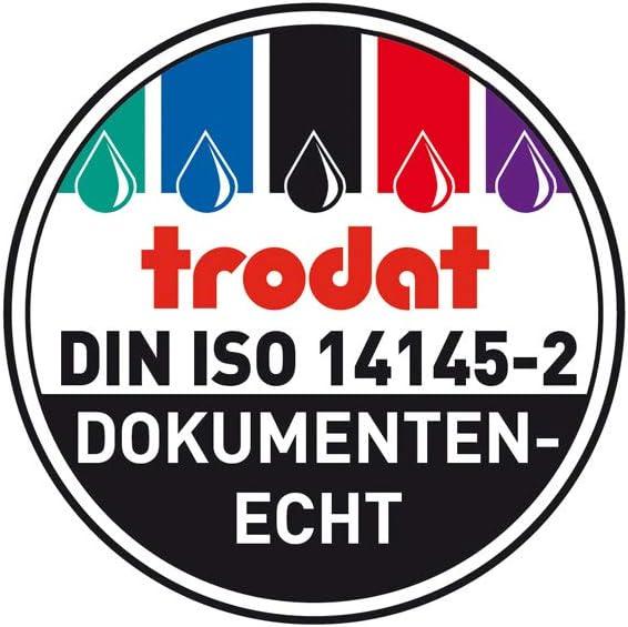Trodat Professional Datumsstempel 5440//L blau-rot EINGEGANGEN Selbstf/ärbend BEZAHLT