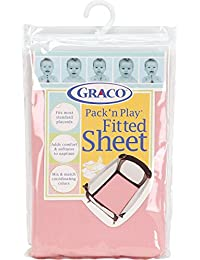 Graco Pack 'n Play Playard Sheet, Pink BOBEBE Online Baby Store From New York to Miami and Los Angeles