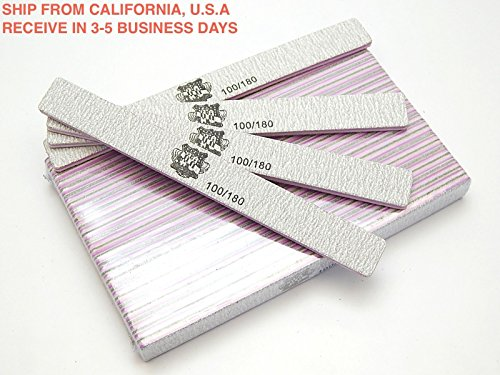Nail Sanding Files Grit 100/180 Small