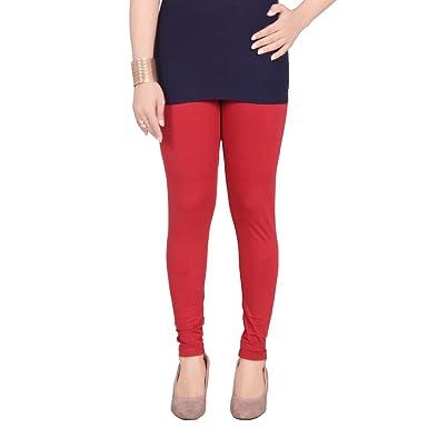 c32a621aaaa3aa Pink n Purple Women's Cotton Crimson Red Ankle Length Leggings(Medium)
