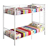 Convertible Twin Twin Metal Bunk Bed or 2 Single Twin Beds , White For Sale