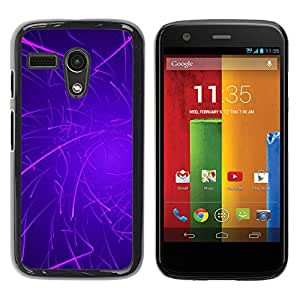 iKiki Tech / Estuche rígido - Purple Lines Rave Glow Stick - Motorola Moto G 1 1ST Gen I X1032