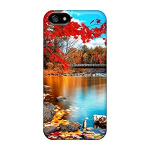 Iphone 5/5s Case Slim [ultra Fit] Lakes Beauty Autumn Protective Case Cover