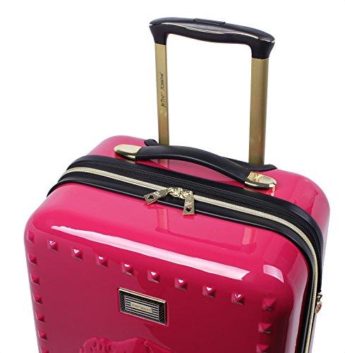 "Betsey Johnson Luggage Hardside 3 Piece Set Suitcase With Spinner Wheels (20"" 26"" 30"") (One Size, Lip Service Magenta)"