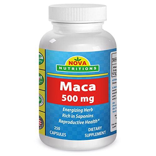 Maca 500 mg 250 Capsules by Nova Nutritions