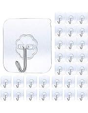 GothicBride Handdoekhaak Zelfklevende, 30PCS Haken Transparant Plastic, Waterdicht Wandhaken, Plakhaken voor Keuken, Badkamer, Kantoor