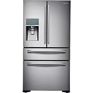 Samsung RF24FSEDBSR Stainless Steel Counter Depth 4-Door Refrigerator, 24 Cubic Feet