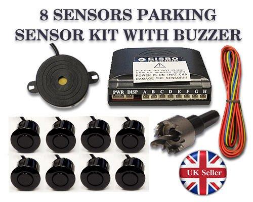 Metal Grey CISBO SB301-8 Parking Reversing 8 Sensors Audio Buzzer System
