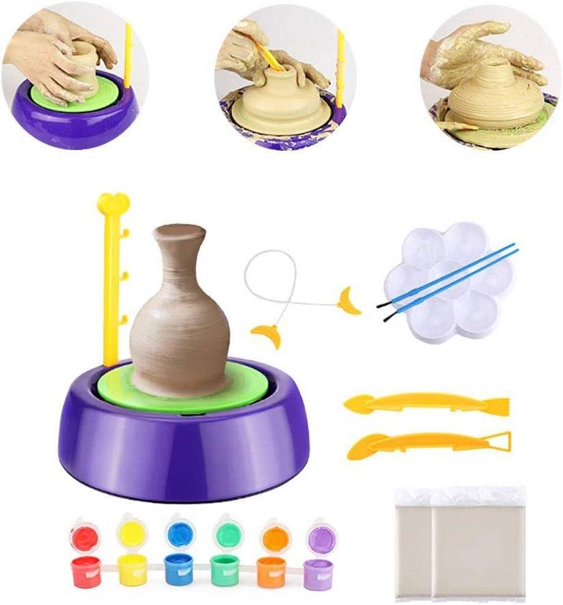 YxnGu Mini-Keramik-Maschine - DIY Keramikherstellung Kids Arts Craft pädagogisches Spielzeug - Keramik-Kunst-Produktionsmaschine für Kinder Geschenk