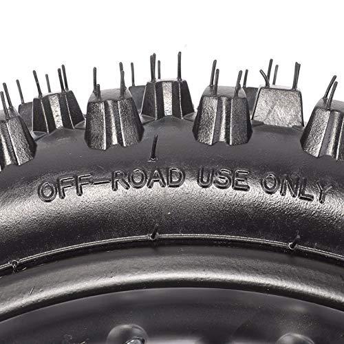 Rear 1.8512 80/100-12 Tire Rim Set Disc Brake 12mm Axle Pitpro Atomik DHZ by HML MOTOR (Image #2)