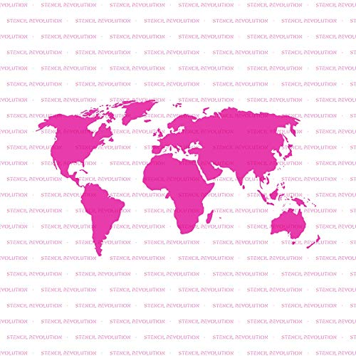 World Map Stencil Template for Walls and Crafts - Reusable Stencils for Painting in Small & Large Sizes by Stencil Revolution (Image #4)