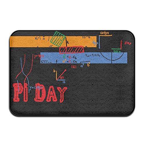 HUYF743 Pi Day 2016 3.1416 Round It Up Math Graph STEM Designed Doormat Entrance Mat Floor Mat Rug Indoor/Outdoor/Front Door/Bathroom Mats Rubber Non Slip
