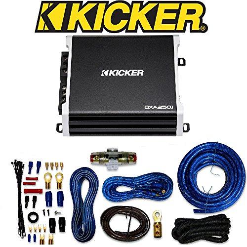 Kicker D-Series 250-Watt Monoblock Class D Subwoofer Amplifier/ 4 Gauge Amp Kit