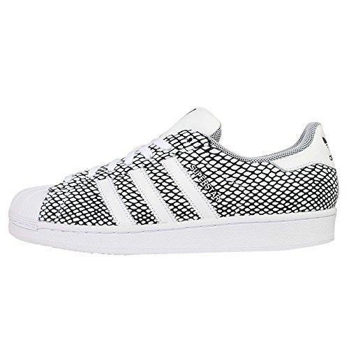 Confezione Da Uomo Adidas Mens Superstar, Nero / Bianco, 12 M Us