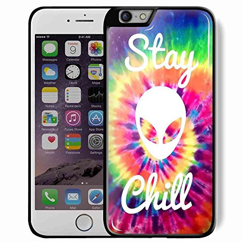 rainbow hippie hipster Grunge chill stay tye dye backgrounds alien for iPhone 6/6s Plus Black Case