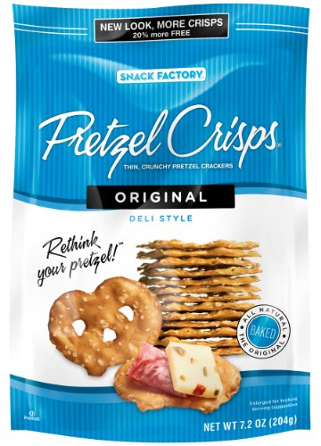 Pretzel Crisps Original, 7.2-Ounce (Pack of 12)