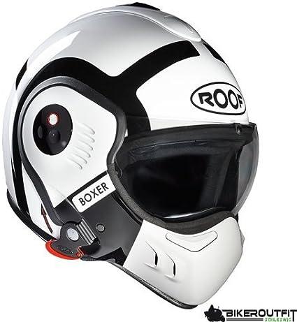 Roof Boxer V8 Bond Flip Front Motorcycle Helmet Sm White Black By Roof Sport Freizeit