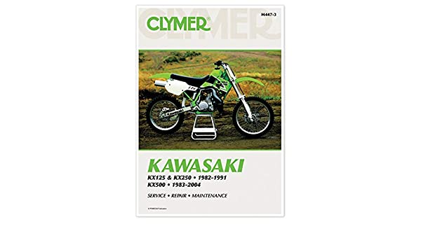 82-91 KAWASAKI KX250 Clymer Service Manual KAWASAKI