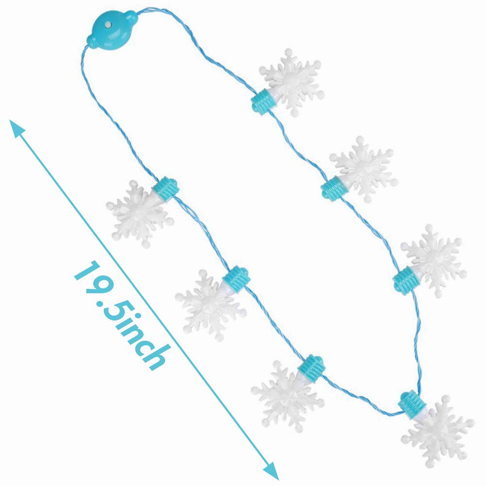 FuturePlusX Snowflake Light-up Necklace, Halloween Snowflake Necklace Flashing Light Up Snowflake Halloween Necklace