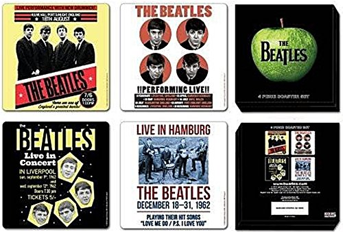 The Beatles 1962 Anniversary 4 Piece Coaster Set.