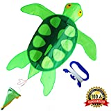 ZHONGRAN Kites Kids Adults- Huge Sea Turtle Kite Easy Flyer Assemble Beginner, Single Line Long Tail, Best Beach/Park Toys /Outdoor Games Boy Girl, Perfect