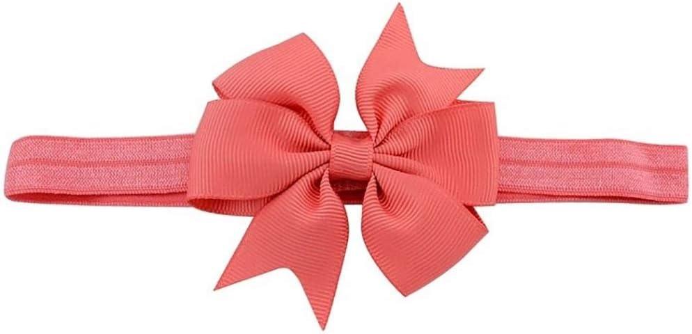 Kangfang, 1 UNIDS Arco de la cinta de la flor de las vendas para las muchachas del color sólido de la muchacha de las vendas elásticos del pelo de los niños Accesorios para el cabello del lazo del pel