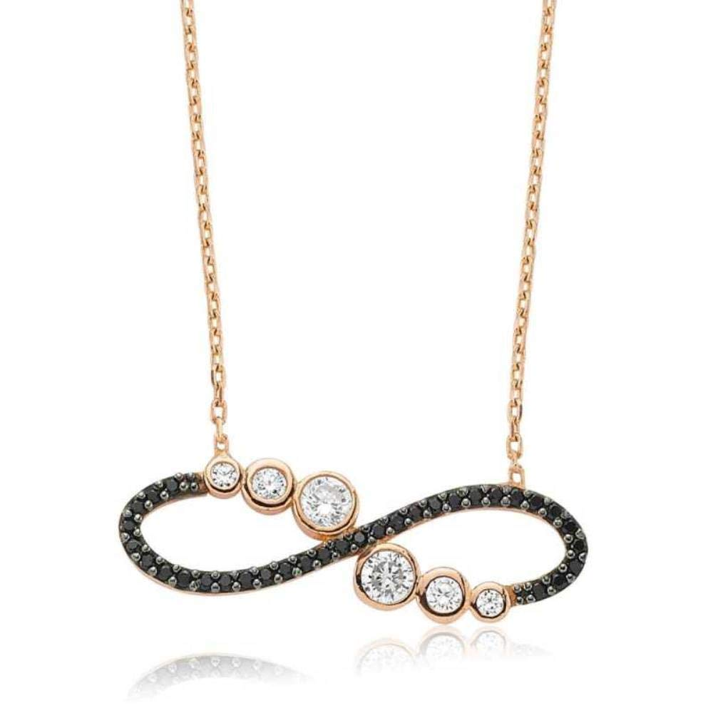 KOKANA Waterway Eternity Necklaces for Women and Girls